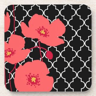 Red Poppies...cork coaster