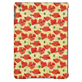 Red Poppies, Cornfield Yellow iPad Case-Mate Case Cover For iPad Air