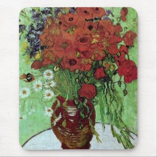 Red Poppies & Daisies (F280)Van Gogh Fine Art Mouse Pad