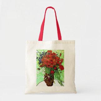 Red Poppies & Daisies Van Gogh Fine Art Budget Tote Bag