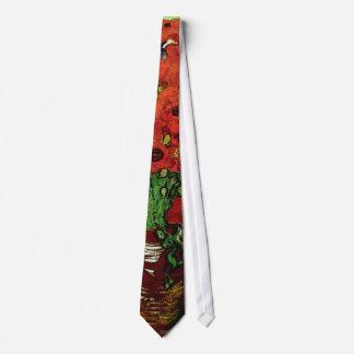 Red Poppies & Daisies Van Gogh Fine Art Tie