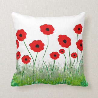 Red Poppy Decorative Pillow : Poppy Pillows - Decorative & Throw Pillows Zazzle