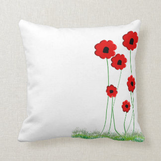 Red Poppies Decorative Pillow