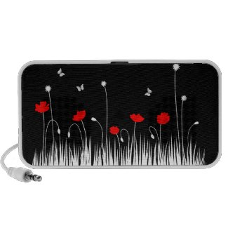 Red poppies doodle speakers doodle