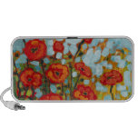 Red Poppies Doodle Travel Speakers
