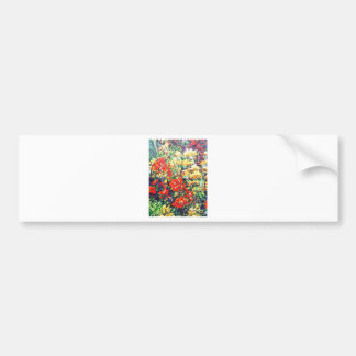 red poppies floral bumper sticker
