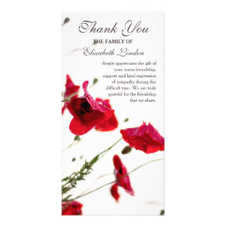 Red Poppies | Floral Sympathy Thank You Card