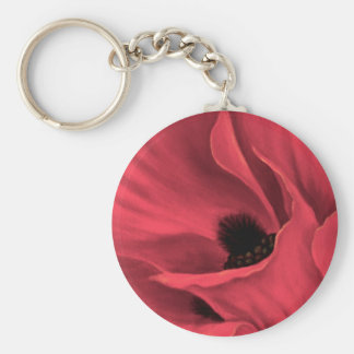 Red Poppies Flower Art Painting - Multi Keychains