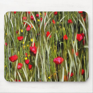 Red Poppies In A Cornfield Mouse Pad