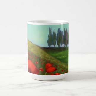 Red Poppies in Tuscany Italy Coffee Mug
