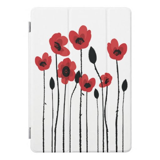 Red Poppies iPad Pro Cover