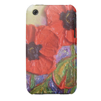 Red Poppies iPhone 3 Case