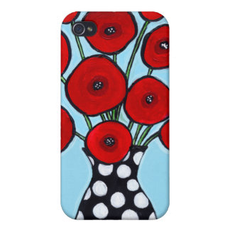 Red Poppies iPhone 4/4S Cases