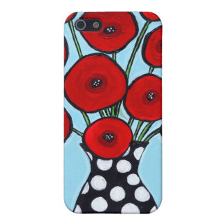 Red Poppies iPhone 5/5S Covers