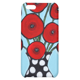 Red Poppies iPhone 5C Cases