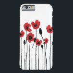 "Red Poppies iPhone 6/6S Barely There Case<br><div class=""desc"">This form-fitting, feather light Case-Mate custom case provides full coverage to your iPhone 6/6S with 4.7 inch screen. Stylish and unique protection for your iPhone with access to all ports, controls and sensors is always a plus. Style option shown is the iPhone 6/6S Barely There Case, also available as Tough,...</div>"