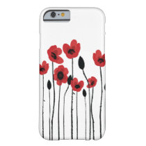 Red Poppies iPhone 6/6S Barely There Case