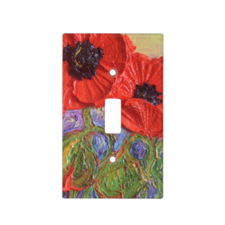 Red Poppies Light Switch Cover
