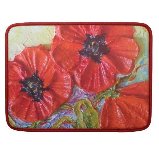 Red Poppies Macbook Pro Sleeve