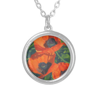 Red Poppies Personalized Necklace