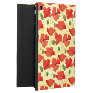 Red Poppies on Cornfield Yellow Powis iPad Case