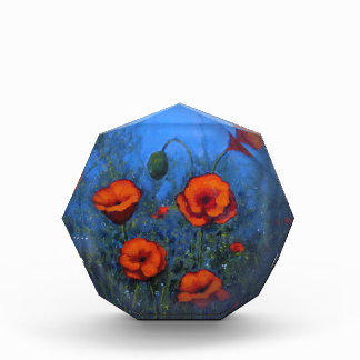 Red Poppies, Original Painting, Impressionism Acrylic Award