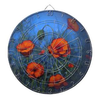 Red Poppies, Original Painting, Impressionism Dartboards