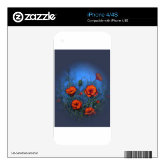 Red Poppies, Original Painting, Impressionism Skins For The iPhone 4