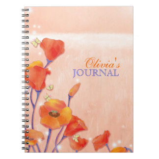Red Poppies Personal or Business Journal