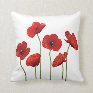 Red Poppies Pillows