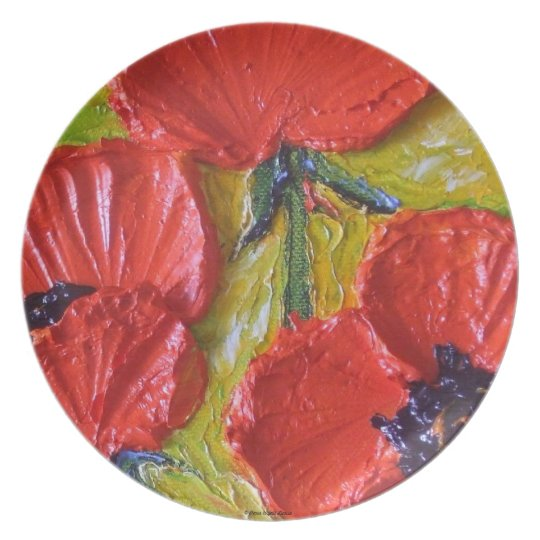 Red Poppies Plate