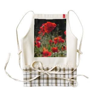 Red Poppies / poppy field  /  Roter Mohn Zazzle HEART Apron