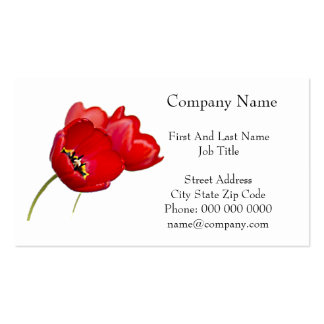 Red Poppies Poppy Flower Yellow Center Photograph Business Card Templates