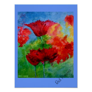 Red Poppies Poster - (small)