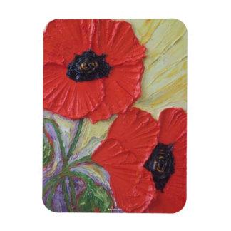 Red Poppies Premium Magnet