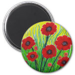 Red Poppies Refrigerator Magnets