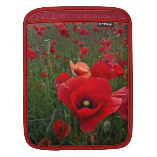 Red Poppies Rickshaw iPad Sleeve