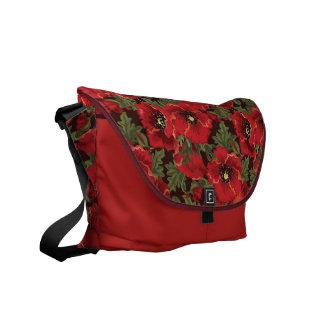 Red poppies Rickshaw Messenger Bag