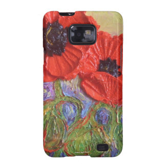 Red Poppies Samsung Galexy Case Samsung Galaxy S2 Cases