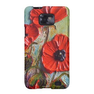 Red Poppies Samsung Galexy Case Galaxy S2 Covers