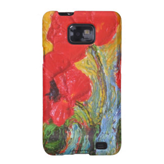 Red Poppies Samsung Galexy Case Samsung Galaxy S2 Cover