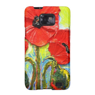 Red Poppies Samsung Galexy Case Samsung Galaxy SII Cover