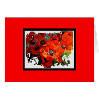 Red Poppies Stationery Note Card