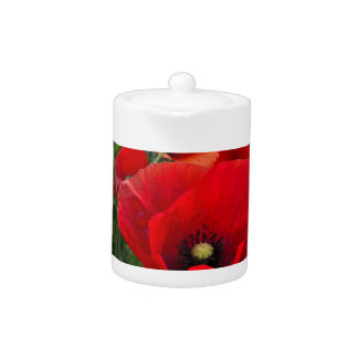 Red Poppies Teapot