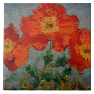 Red Poppies Tile