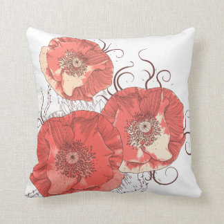 Red Poppies Ver. B Pillow