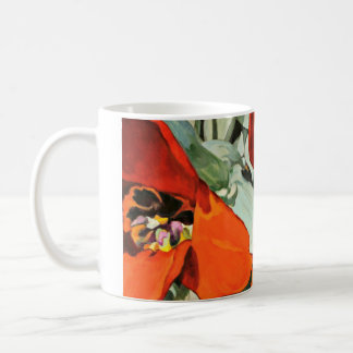 Red Poppies Wraparound Classic White Coffee Mug