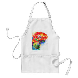 Red Poppy Adult Apron