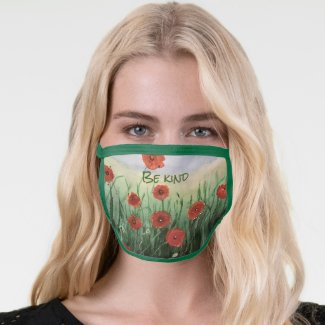 Red Poppy All-Over Print Face Mask