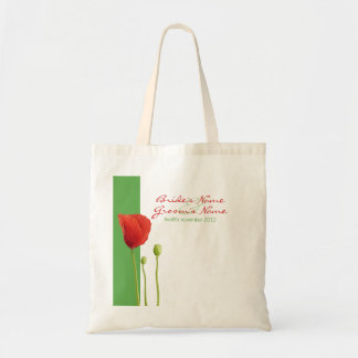 Red Poppy apple Gift Bag